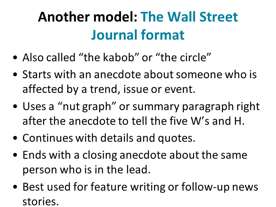 For beginning newswriting, it's best to master the L-Q-T-Q formula first.