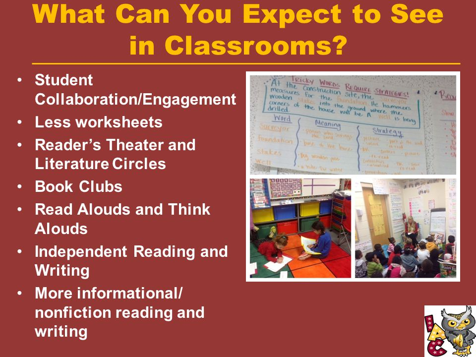 What Can You Expect to See in Classrooms.