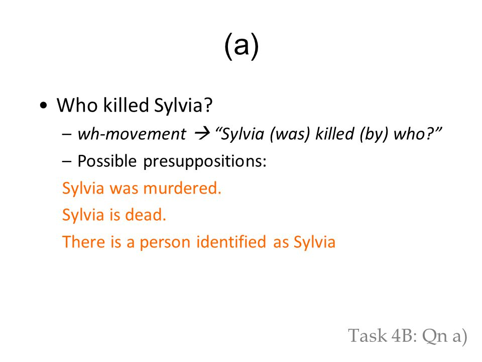 Who killed Sylvia.