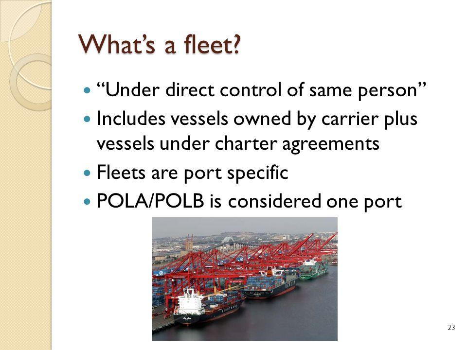 What's a fleet.