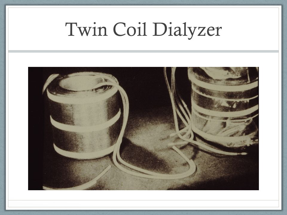 Twin Coil Dialyzer