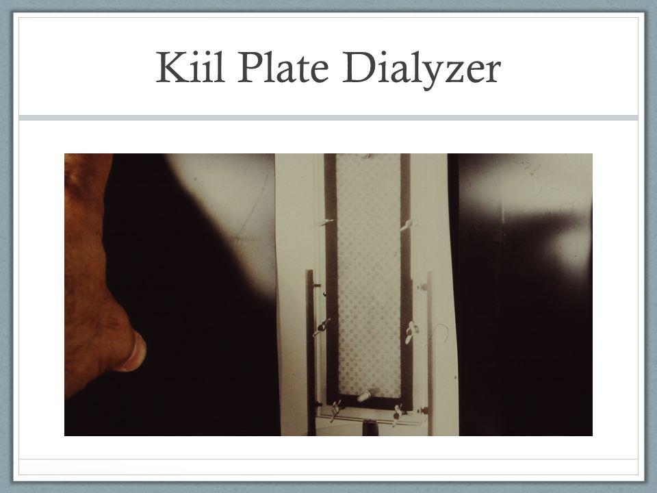 Kiil Plate Dialyzer