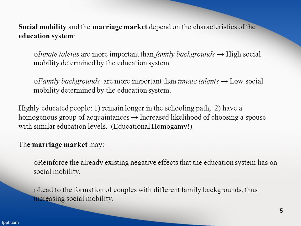 3. The Marriage Market and Family Backgrounds 16