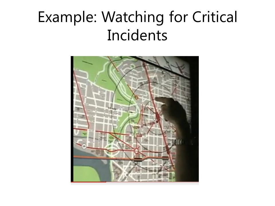Example: Watching for Critical Incidents