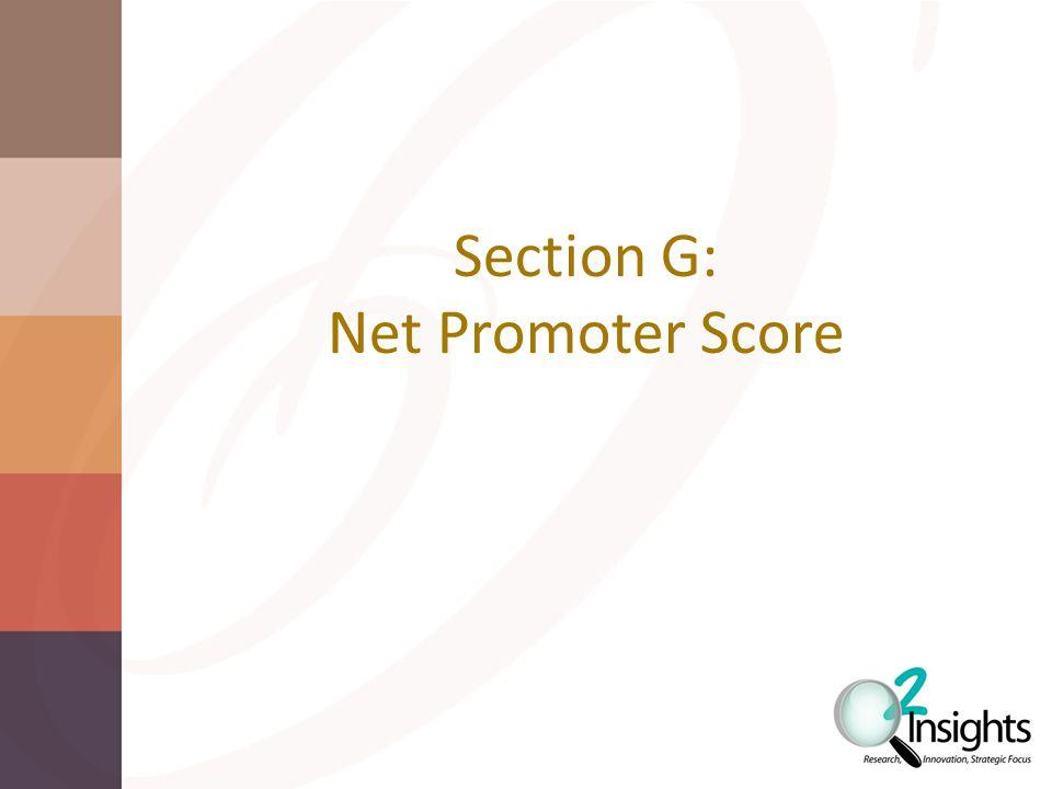Section G: Net Promoter Score