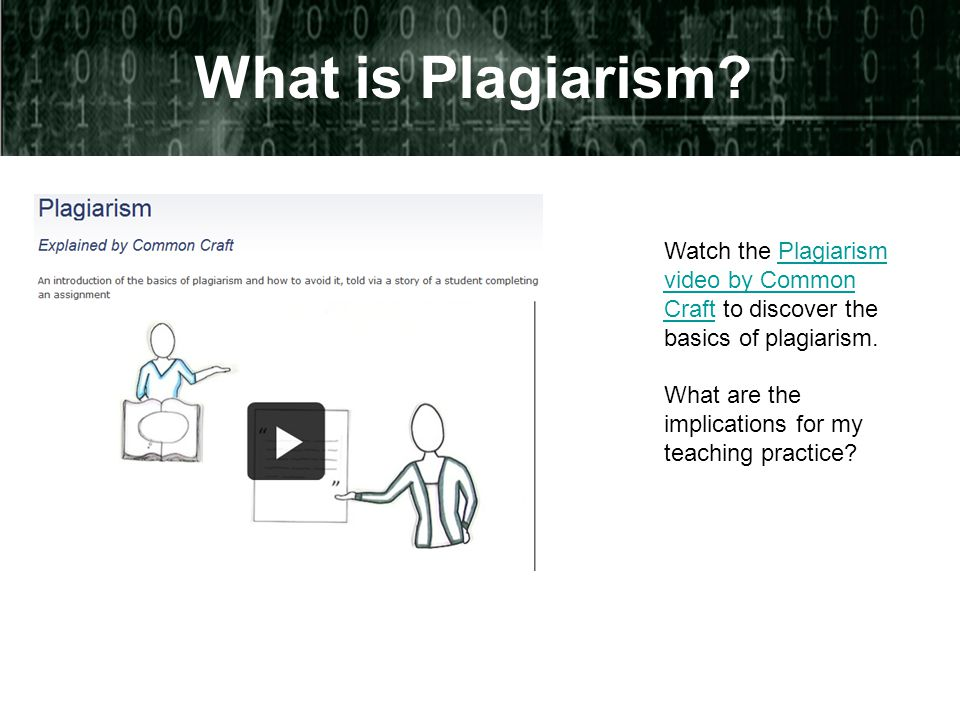 What is Plagiarism.
