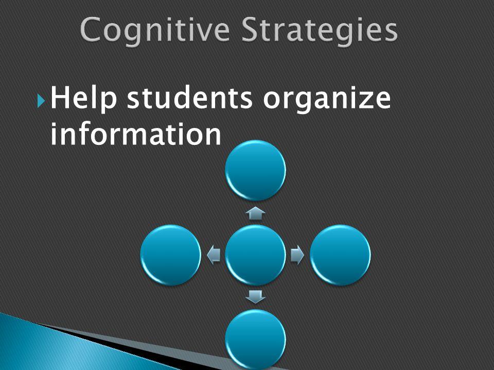  Help students organize information