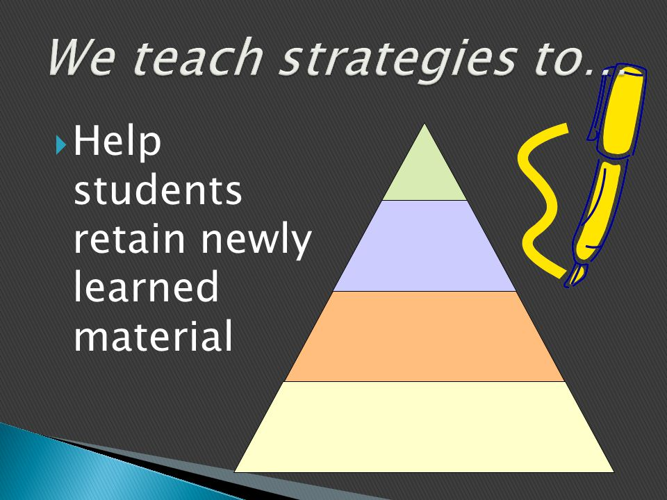  Help students retain newly learned material