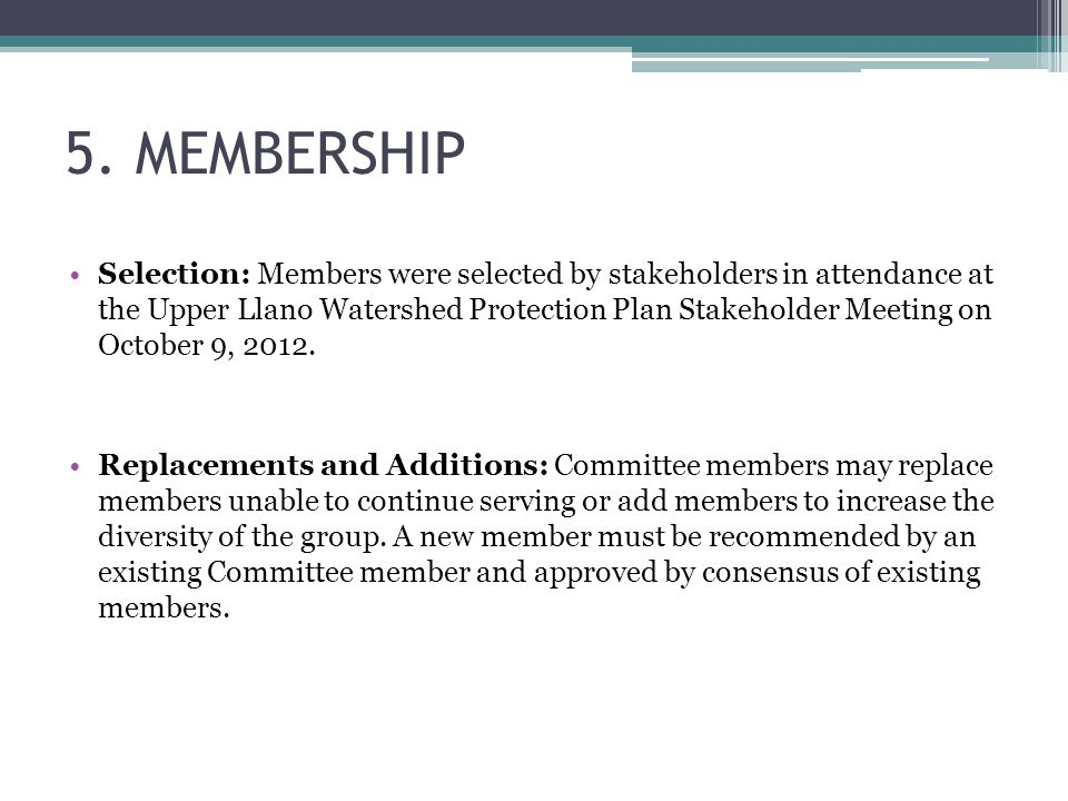 5.MEMBERSHIP Substitutes: Those unable to attend a meeting (an absentee) may send a substitute.
