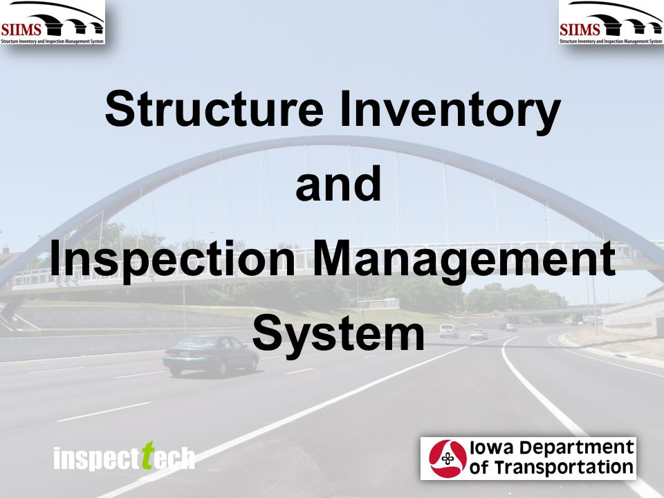 inspect t ech Structure Inventory and Inspection Management System