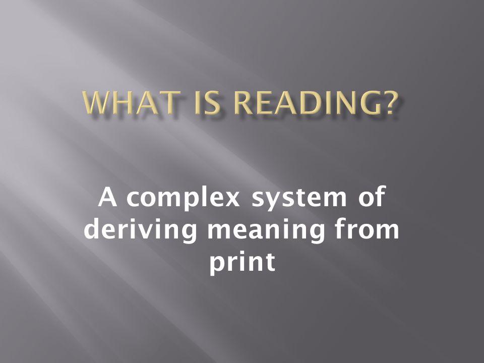 1. Decoding 2. Fluency 3. Comprehension 4. Vocabulary 5. Phonemic Awareness