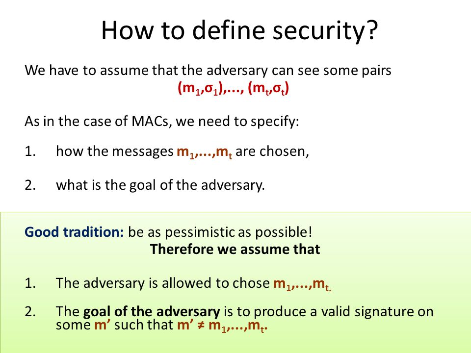 How to define security.