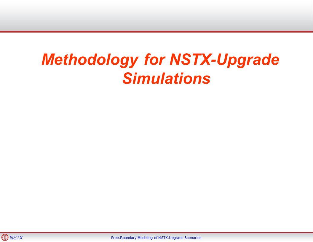 NSTX Free-Boundary Modeling of NSTX-Upgrade Scenarios Methodology for NSTX-Upgrade Simulations