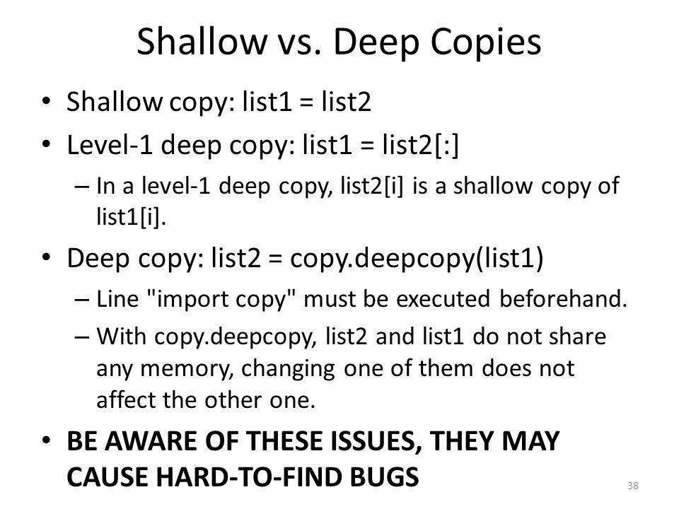Shallow vs.