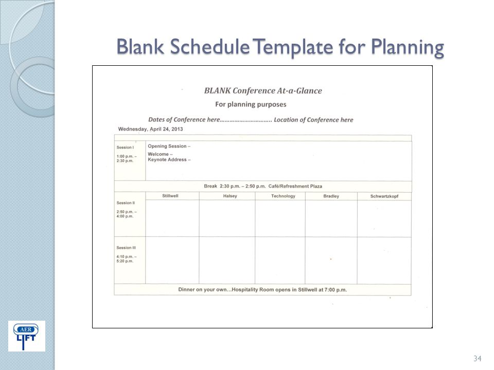 Blank Schedule Template for Planning 34