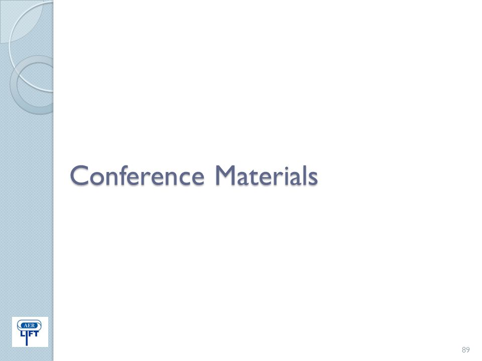 Conference Materials 89
