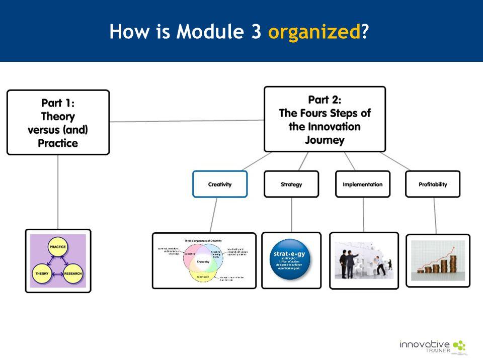 How is Module 3 organized