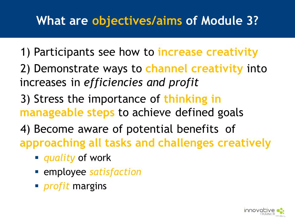 What are objectives/aims of Module 3.