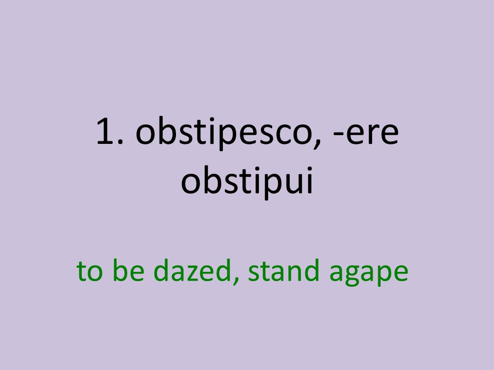 to be dazed, stand agape