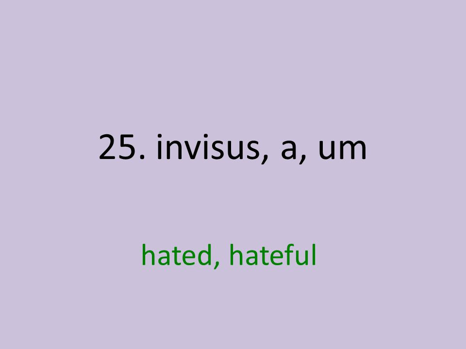 hated, hateful