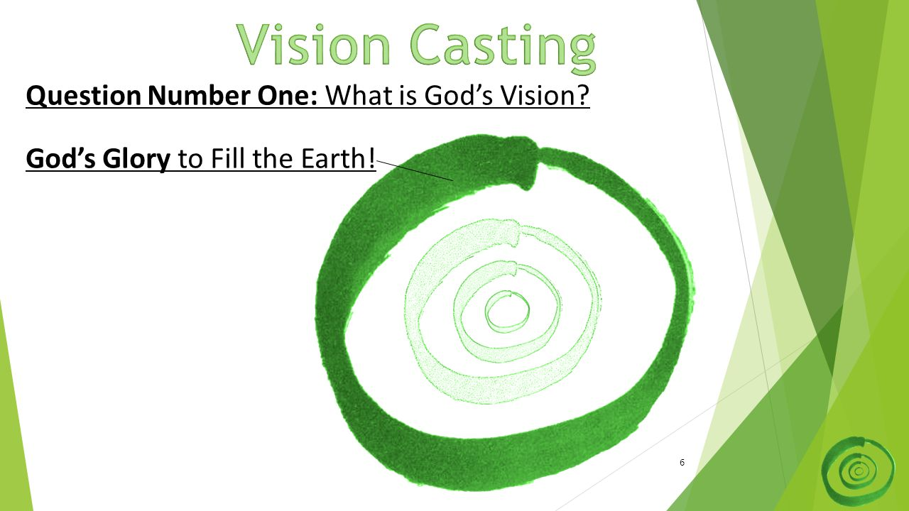 6 Question Number One: What is God's Vision? God's Glory to Fill the Earth!