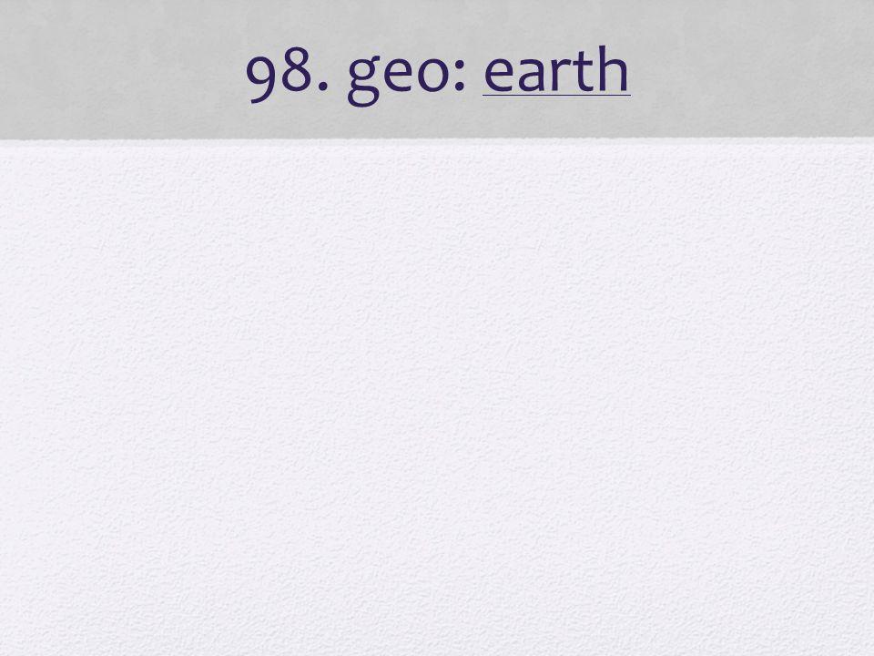 98. geo: earth