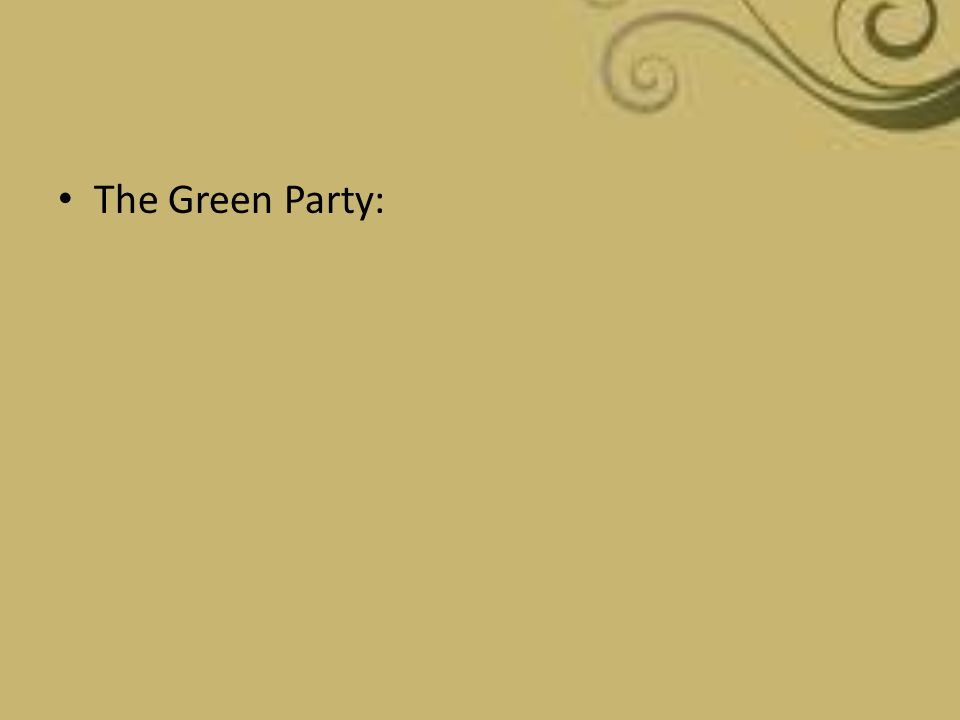 The Green Party: