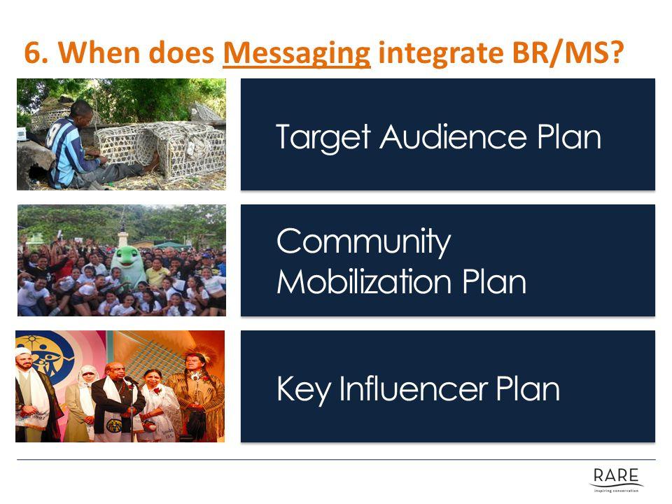 Target Audience Plan Community Mobilization Plan Key Influencer Plan 6.
