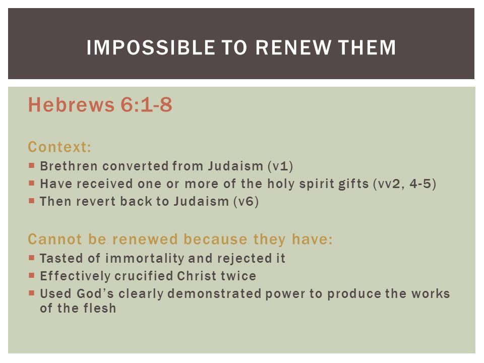 For if after they have escaped the pollutions of the world through the knowledge of the Lord and Saviour Jesus Christ, they are again entangled therein, and overcome, the latter end is worse with them than the beginning.