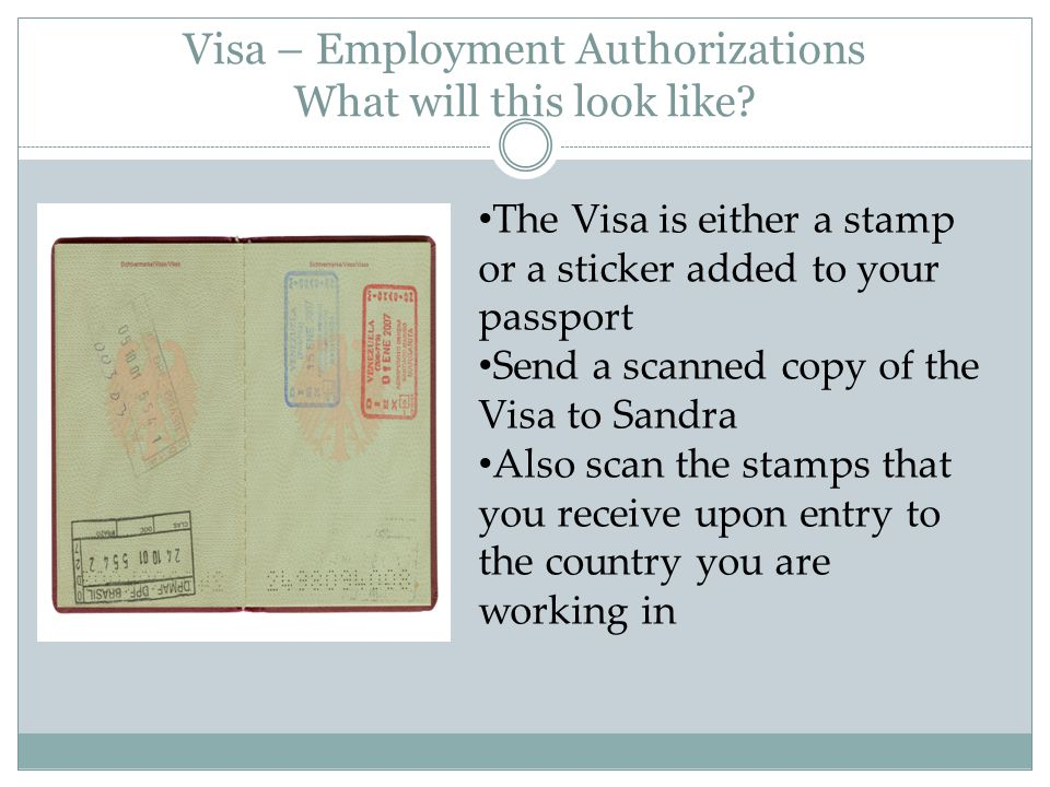 Visa – Employment Authorizations What will this look like.