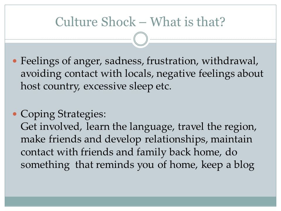 Culture Shock – What is that.
