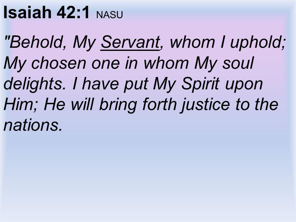 Isaiah 42:1 NASU