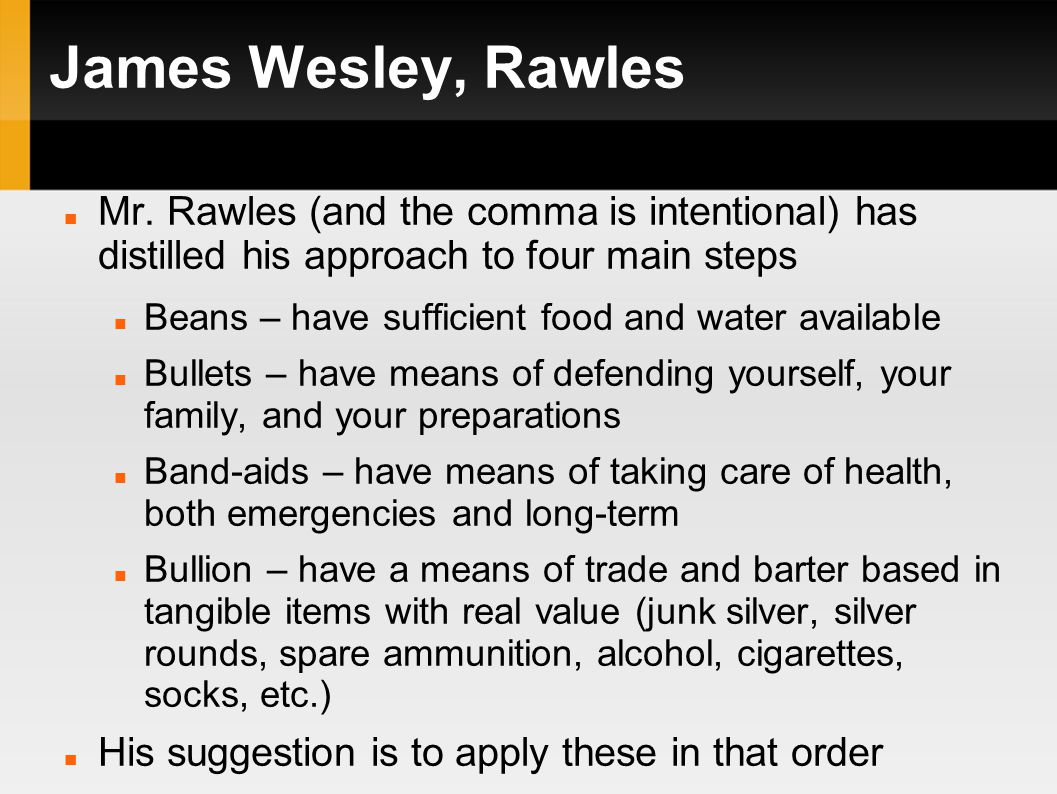 James Wesley, Rawles Mr.