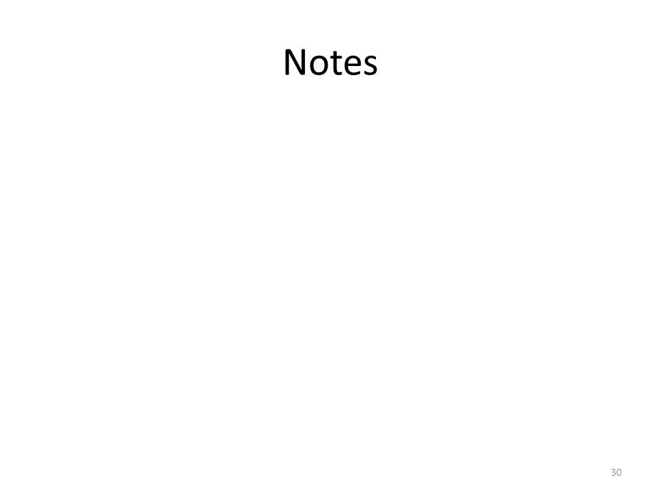 Notes 30