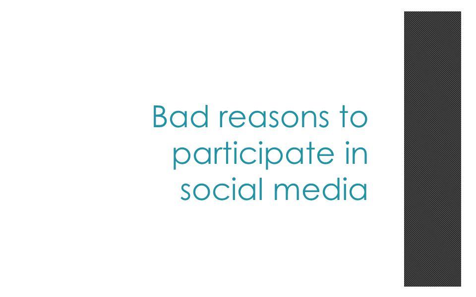 Bad reason #1 To go viral