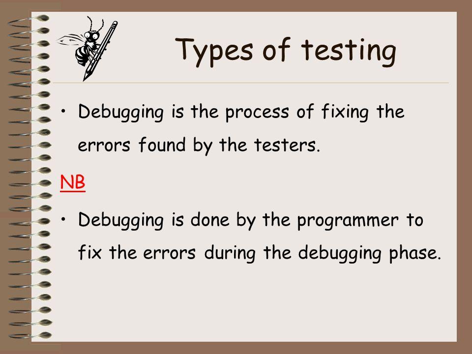 Question Distinguish between testing and debugging. (2mks)