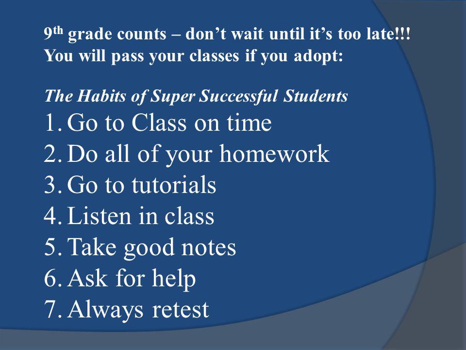 Class of 2018 Grade Level Classifications 0 – 5.0 Credits = 9 th Grade 0 – 5.0 Credits = 9 th Grade 5.5 – 11.5 Credits = 10 th Grade 12.0 – 18.5 Credits = 11 th Grade 19.0 – 26+ Credits = 12 th Grade