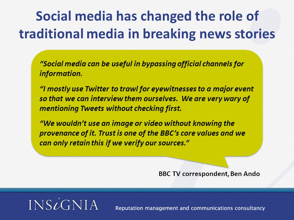 Social media can be useful in bypassing official channels for information.