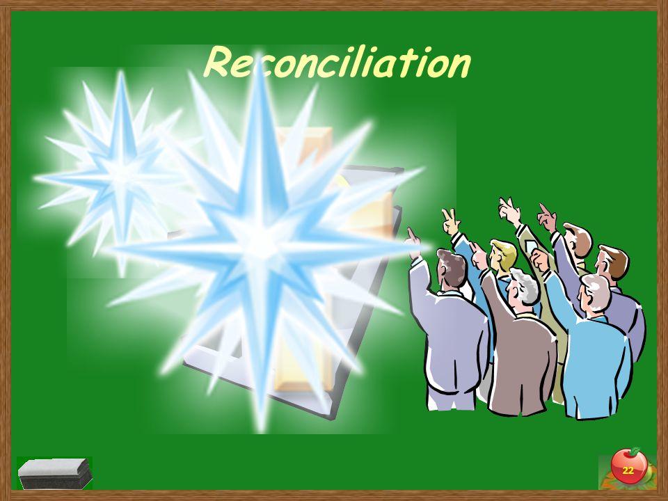 Reconciliation 22 Sin