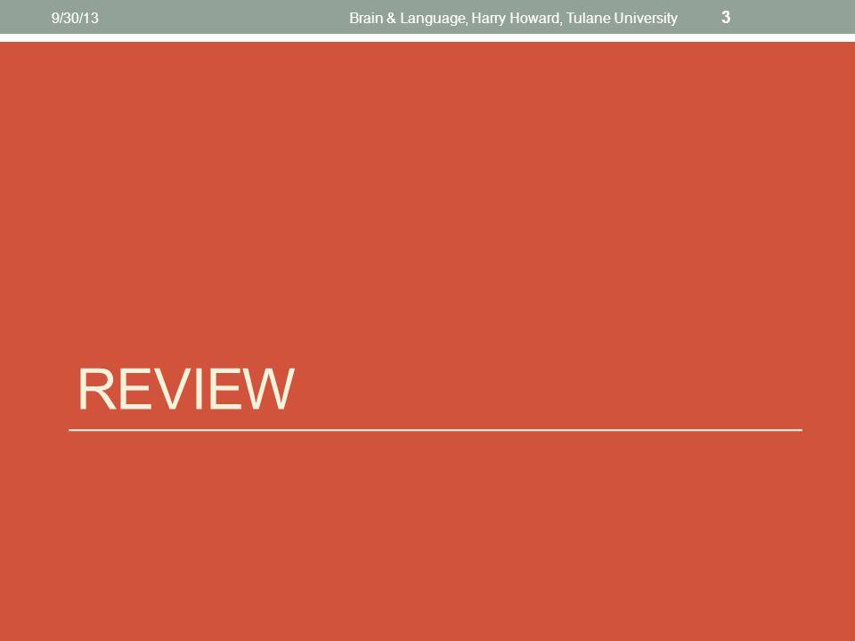 REVIEW 9/30/13Brain & Language, Harry Howard, Tulane University 3
