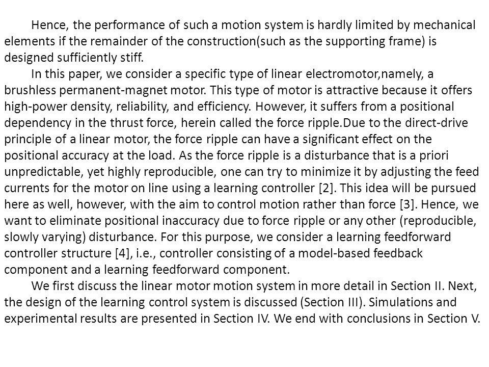 II.LINEAR MOTOR A. Working Principle In Fig.