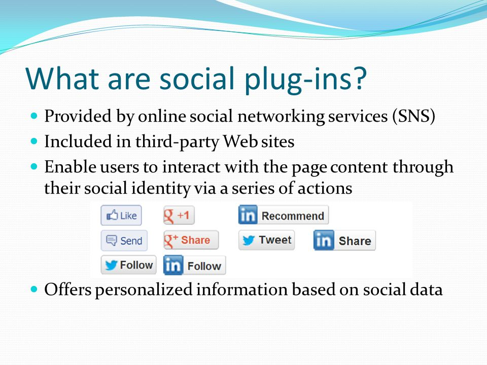 What are social plug-ins.