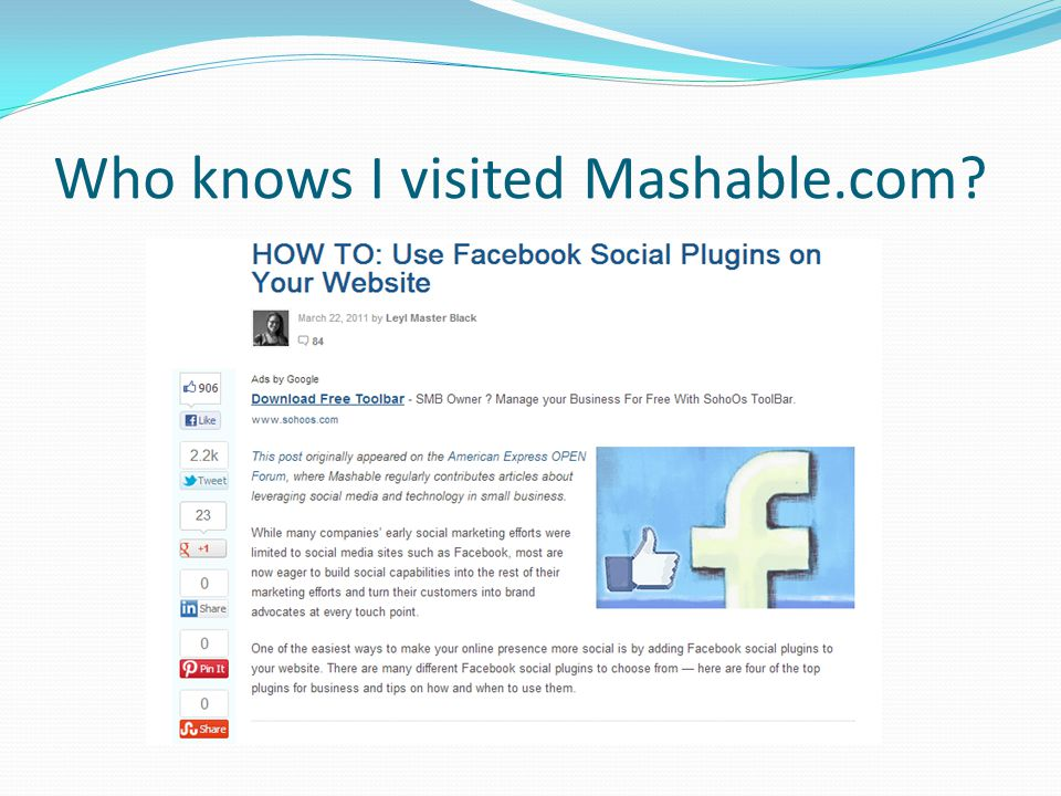 Who knows I visited Mashable.com