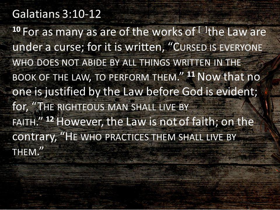 A devastating argument against working your way to God v.