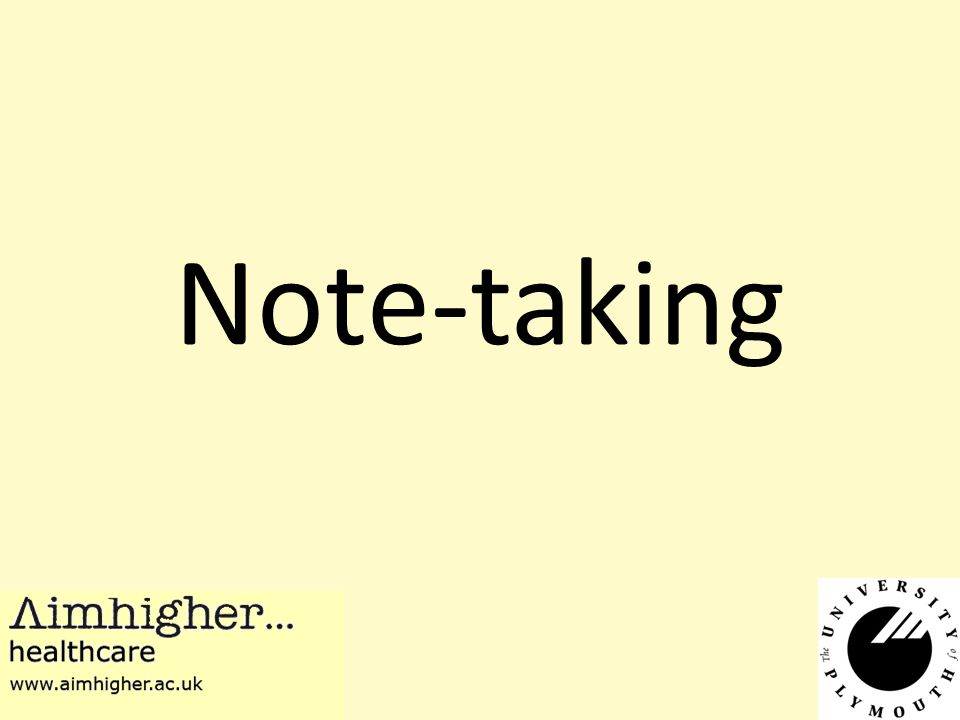 Reasons for taking notes Help you remember something Help in planning of a project or piece of writing Re-order material Help you understand your learning Show other people Reasons for taking notes affect the way you make them