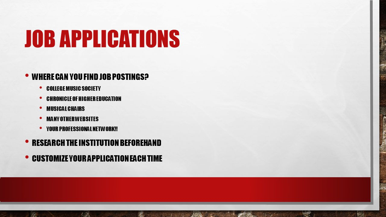 JOB APPLICATIONS WHERE CAN YOU FIND JOB POSTINGS.
