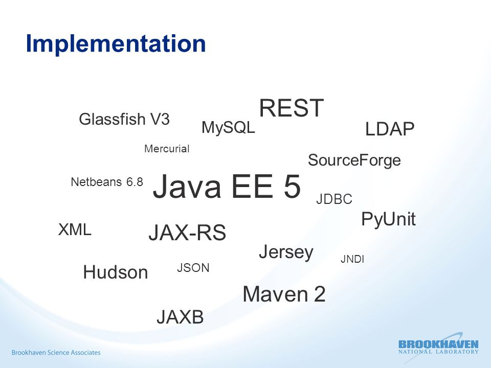 Directory Data Sources  IRMIS or other RDB systems Geographical, hierarchical, engineering, physics data  DB file parser (PV names, attributes) Requires a good naming convention  Control room applications Joe's favorite channels