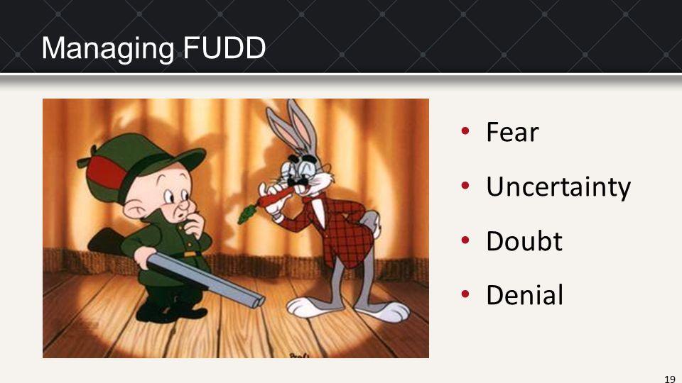 19 Managing FUDD Fear Uncertainty Doubt Denial