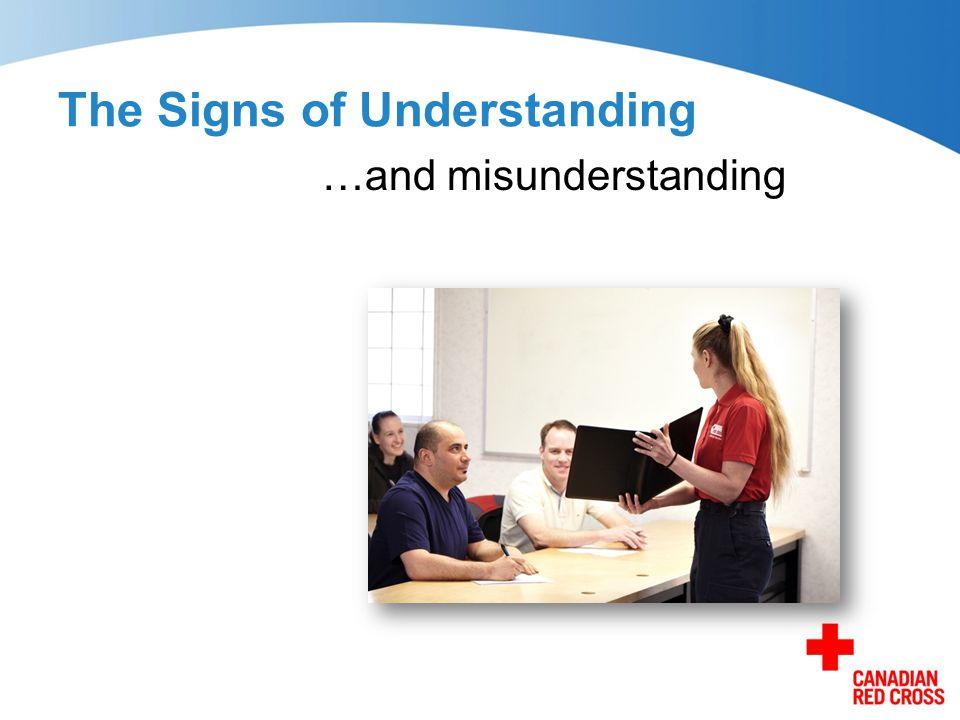 The Signs of Understanding …and misunderstanding