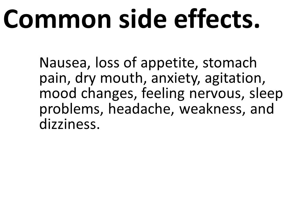 Common side effects.